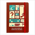 [Born to Read] Hardcover Notebook - Sherlock : Red