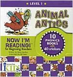 Now I\'m Reading! Level 1: Animal Antics [With Stickers]